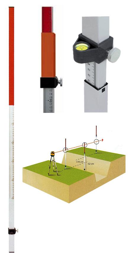 Laserová lať TN 20-kombi s délkou 2.4 m, fotografie 5/4