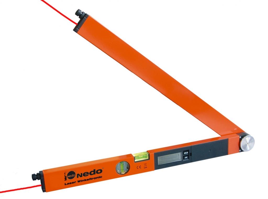 Profi digitální úhloměr Laser Winkeltronic 2 s délkou ramene 60 cm a 2x laserovým modulem