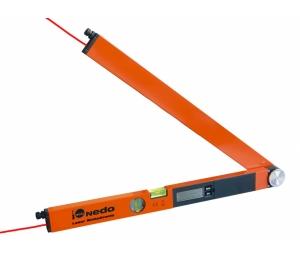 Laser WinkelTronic 2 profi digitální úhloměr s délkou ramene 60 cm a 2x laserovým modulem