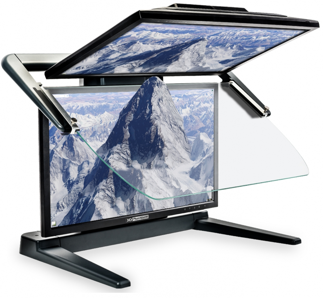"Stereo-Monitor 3D PluraView 27"" Full HD"