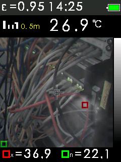 Termokamera FTI 300 s automatickým vyhledáváním horkých a studených bodů, fotografie 11/11