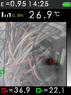 Termokamera FTI 300 s automatickým vyhledáváním horkých a studených bodů, fotografie 13/11