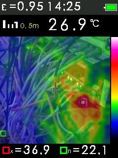 Termokamera FTI 300 s automatickým vyhledáváním horkých a studených bodů, fotografie 19/11