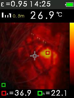 Termokamera FTI 300 s automatickým vyhledáváním horkých a studených bodů, fotografie 17/11