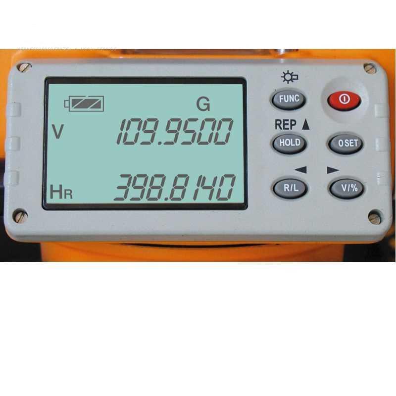 """Elektronický teodolit FET 420 K, přesnost 10"""", zvětšení 30x, 2x LCD displej, fotografie 1/2"""