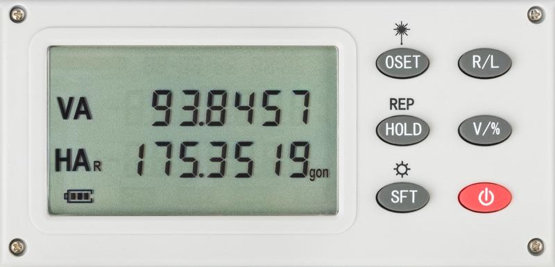 """Elektronický teodolit FET 220, přesnost 20"""", zvětšení 30x, 1x LCD displej, fotografie 1/3"""