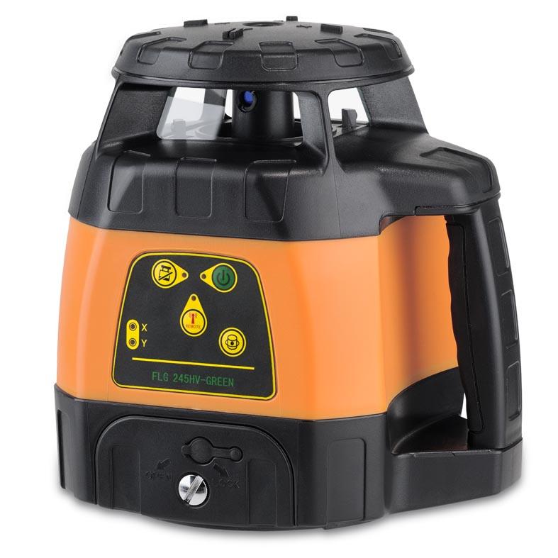 Zelený rotační laser FLG 245HV-Green pro vodorovnou i svislou rovinu a sklon v osách X a Y, fotografie 1/4