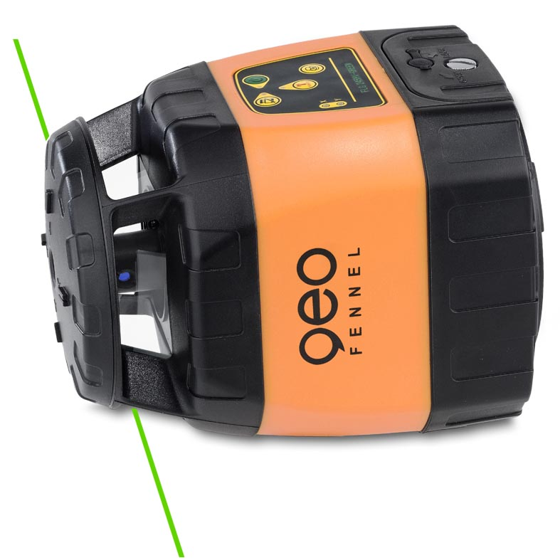 Zelený rotační laser FLG 245HV-Green pro vodorovnou i svislou rovinu a sklon v osách X a Y, fotografie 3/4