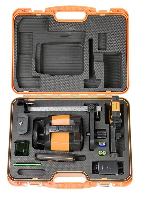 Zelený rotační laser FLG 245HV-Green pro vodorovnou i svislou rovinu a sklon v osách X a Y, fotografie 5/4