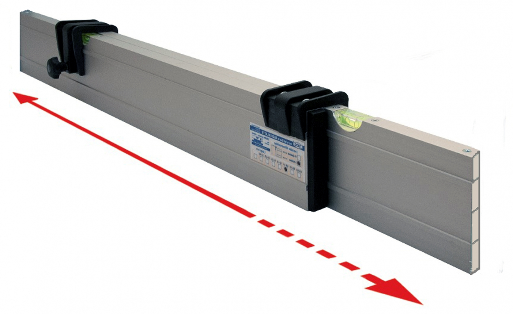 Nivelo NL14 nastavitelná stahovací lať s pracovní délkou 0.8 - 1.4 m