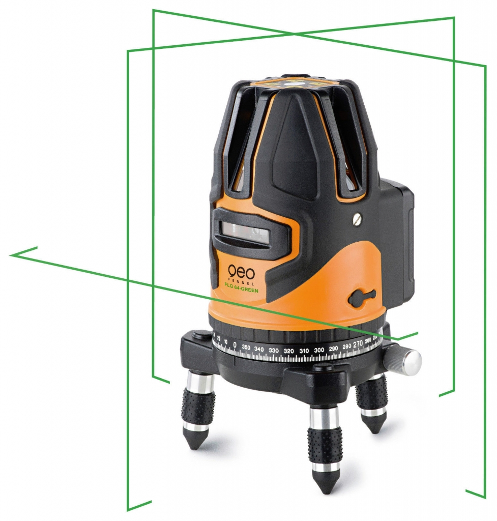 Univerzální křížový laser FLG 64 GREEN s kalibračním listem v ceně