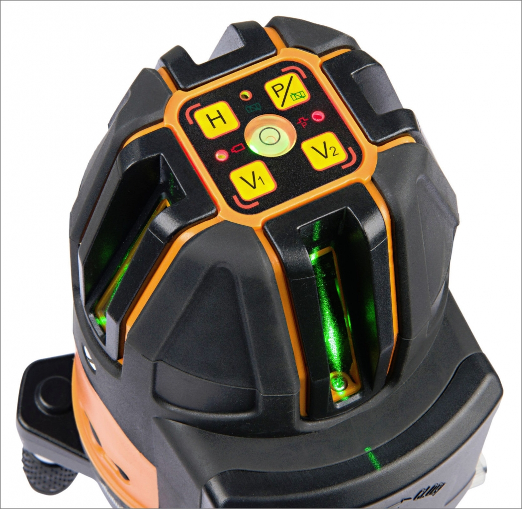 Univerzální křížový laser FLG 64 GREEN s kalibračním listem v ceně, fotografie 1/2