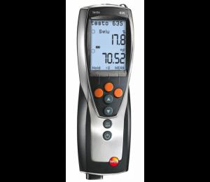 Multifunkční vlhkoměr/teploměr Testo 635-1 pro měření vlhkosti vzduchu, kompenzované vlhkosti materiálu a pro měření rosného bodu v tlakových systémech