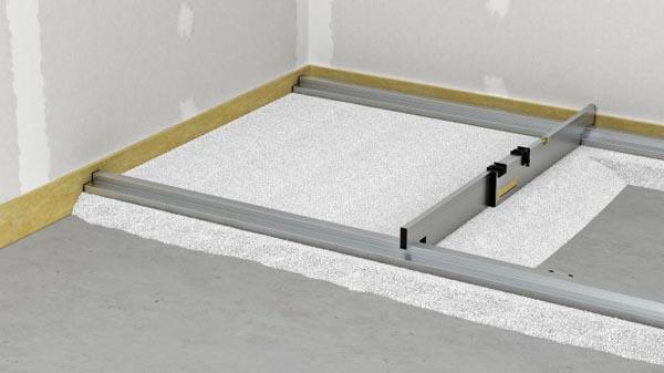 Nivelo PLUS set pro podlaháře sestávající z 2 nastavitelných latí, 5 stahovacích kolejnic a 3 spojek, fotografie 11/9