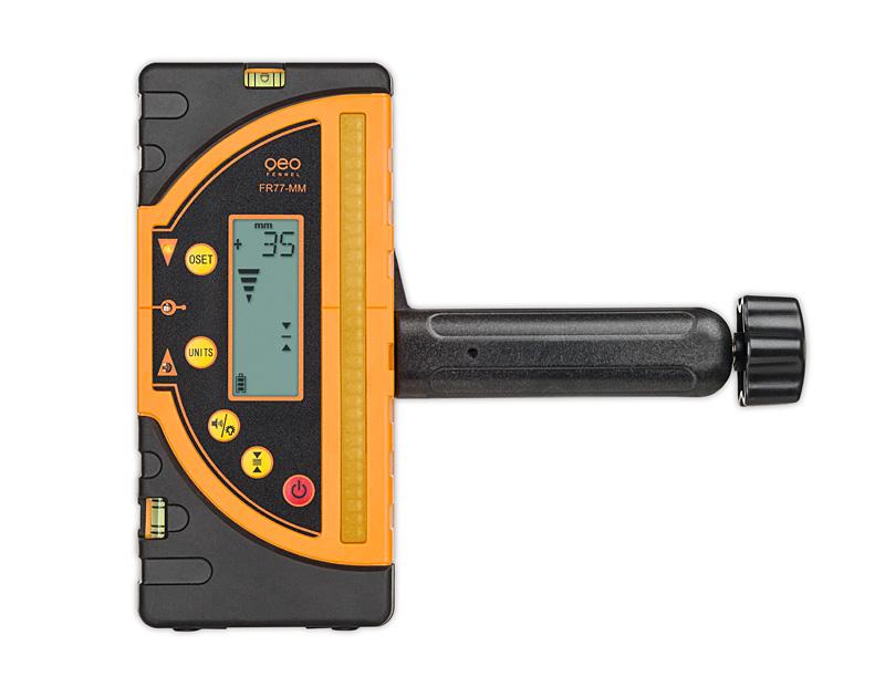 Kombi přijímač FR 77-MM pro lasery s červeným i zeleným paprskem a zobrazením výšky v mm, fotografie 5/4