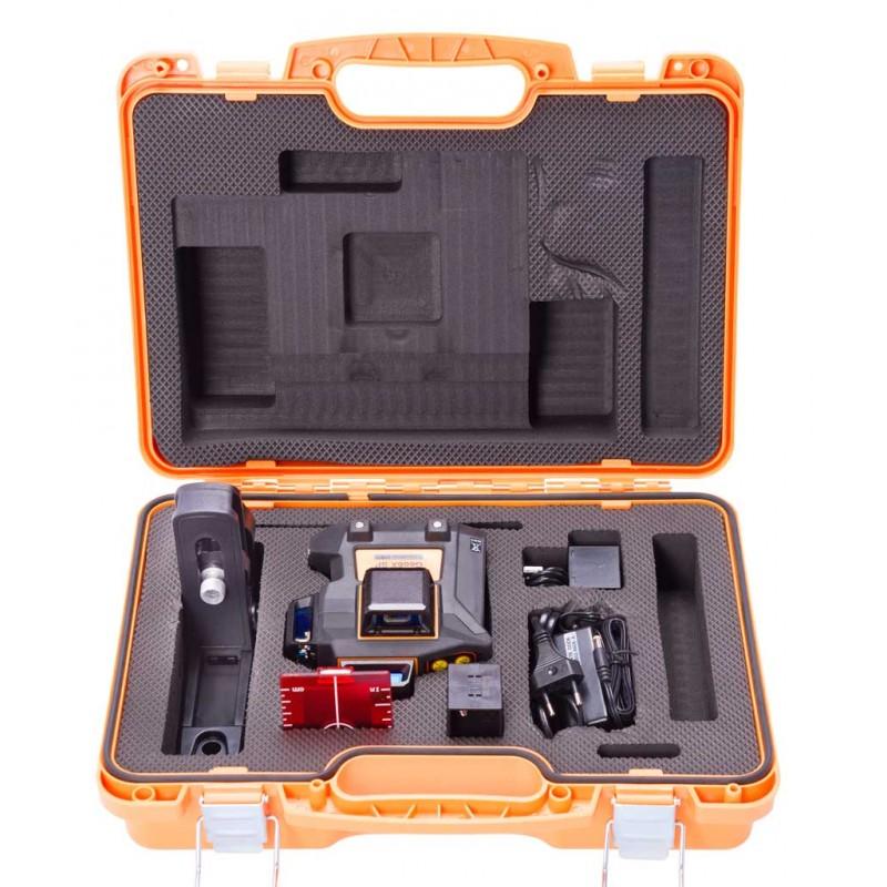 Geo6X SP kit s červeným paprskem a Li-Ion akumulátorem pro vytvoření až 6ti křížů na všech stěnách, fotografie 3/11