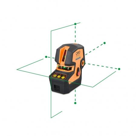 CrossPointer5 Green zelený kombinovaný křížový a bodový laser s možností použít přijímač paprsku