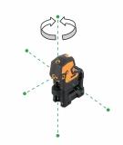 CrossPointer5 Green zelený kombinovaný křížový a bodový laser s možností použít přijímač paprsku, fotografie 3/7