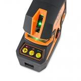CrossPointer5 Green zelený kombinovaný křížový a bodový laser s možností použít přijímač paprsku, fotografie 7/7