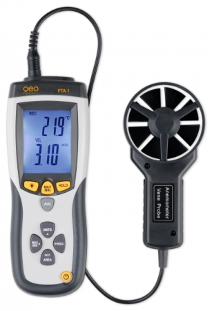 FTA 1 je měřič rychlosti, průtoku a teploty vzduchu