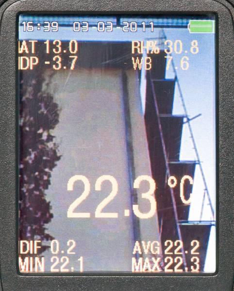 Profesionální termometr s barevným TFT displejem a kamerou FIRT 1000 DataVision, fotografie 5/5