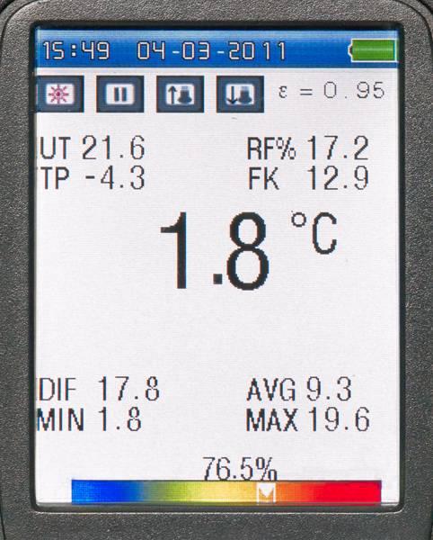 Profesionální termometr s barevným TFT displejem a kamerou FIRT 1000 DataVision, fotografie 7/5