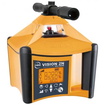VISION 2N Autoslope ALIGN + přijímač TE90 pro obě roviny s digitálním sklonem osy X i Y s automatickým dorovnáváním nastaveného sklonu osy X a Y a funkcí zacílení na cíl ALIGN