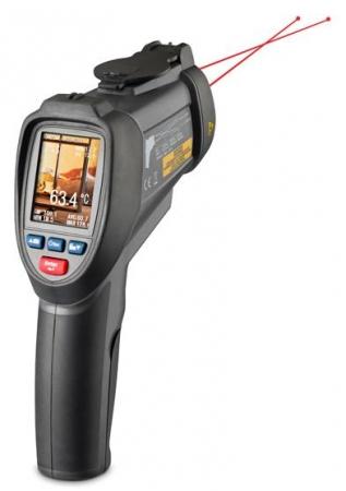 FIRT 1000 DataVision je profesionální termometr s barevným TFT displejem, kamerou a měřením do 1000°C
