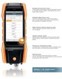 Testo 300 je analyzátor spalin kotlů, teploty na radiátorech, měření CO v okolí a tlaku na hořáku, fotografie 3/10