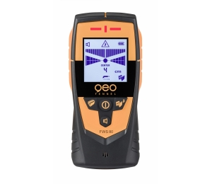 FWS 80 detektor kovů, dřeva a živých vodičů ve stropech, stěnách a podlahách.