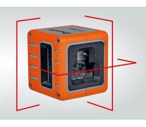 Cube je červený křízový laser s přesností +/- 3mm / 10m a dosahem 25m
