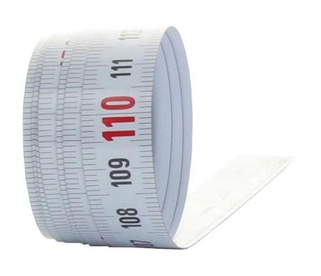 X150 samolepící měřící páska pro montáž na stoly a stroje o délce 5m se škálováním zleva doprava