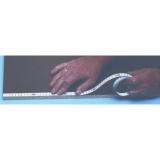 X111 samolepící měřící páska pro montáž na stoly a stroje o délce 1m se škálováním zprava doleva, fotografie 3/3